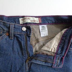 Levi's Nouveau Blue Jean Shorts Size 6 Womans 30W